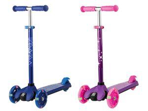 PLAYTIVE® JUNIOR Tri Scooter, mit LED Rollen, verstellbare Lenkerhöhe, ab 3 Jahren