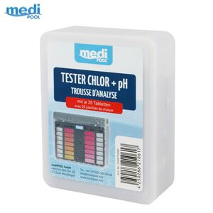 mediPool Tester Chlor + pH mit je 20 Tabletten