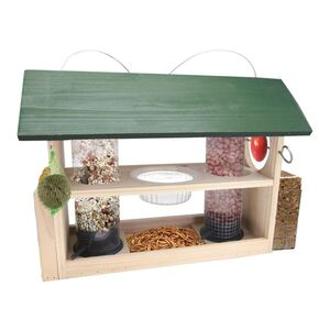 Holz-Vogelfutterstation 8in1