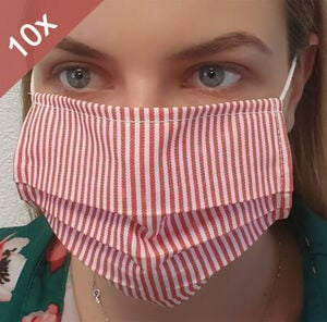 Vcm Behelfs - Mundschutz Gesichtsmaske Maske waschbar & wiederverwendbar Baumwolle,
