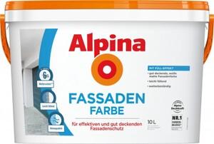 Alpina Fassadenfarbe 10 l Für effektiven und dut deckenden Fassadenschutz
