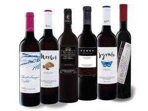 6 x 0,75-l-Flasche Weinpaket Rotweine aus Griechenland