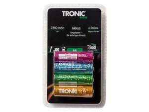 TRONIC® NiMH-Akku, Ready to use, Wiederaufladbar, 4 Stück