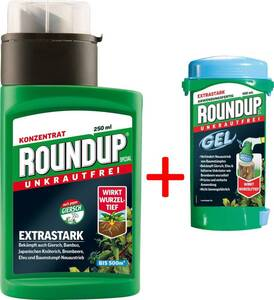 Roundup Spezial 250 ml plus Gratis dazu Roundup Gel Max 100 ml Roundup