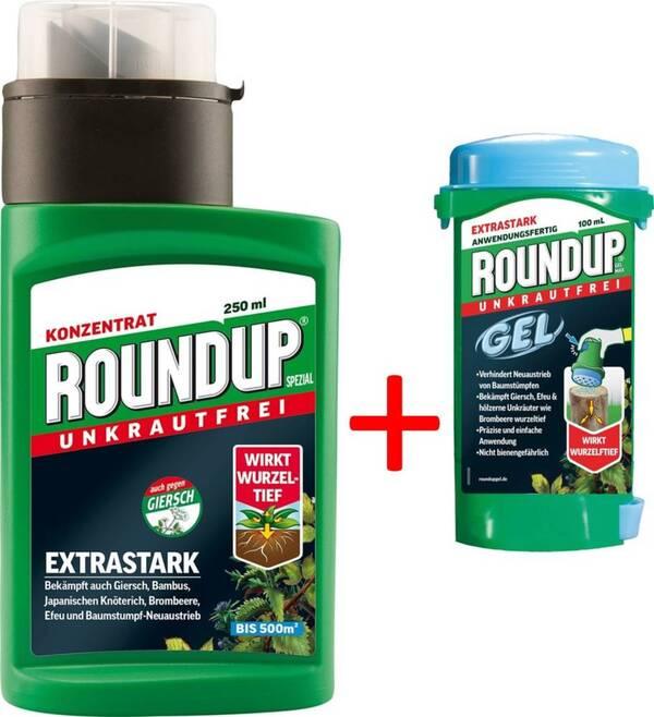 Roundup Spezial 250 ml plus Gratis dazu Roundup Gel Max 100 ml Roundup