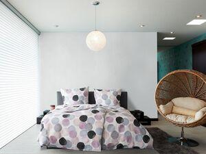 Primera Seersucker Bettwäsche »Kreise rosa«, 135x200 cm oder 155x220 cm, aus Baumwolle