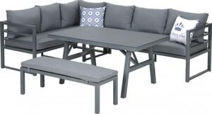 Primaster Aluminium-Dining-Loungeset Riva ,  inkl. Sitz- und Rückenkissen