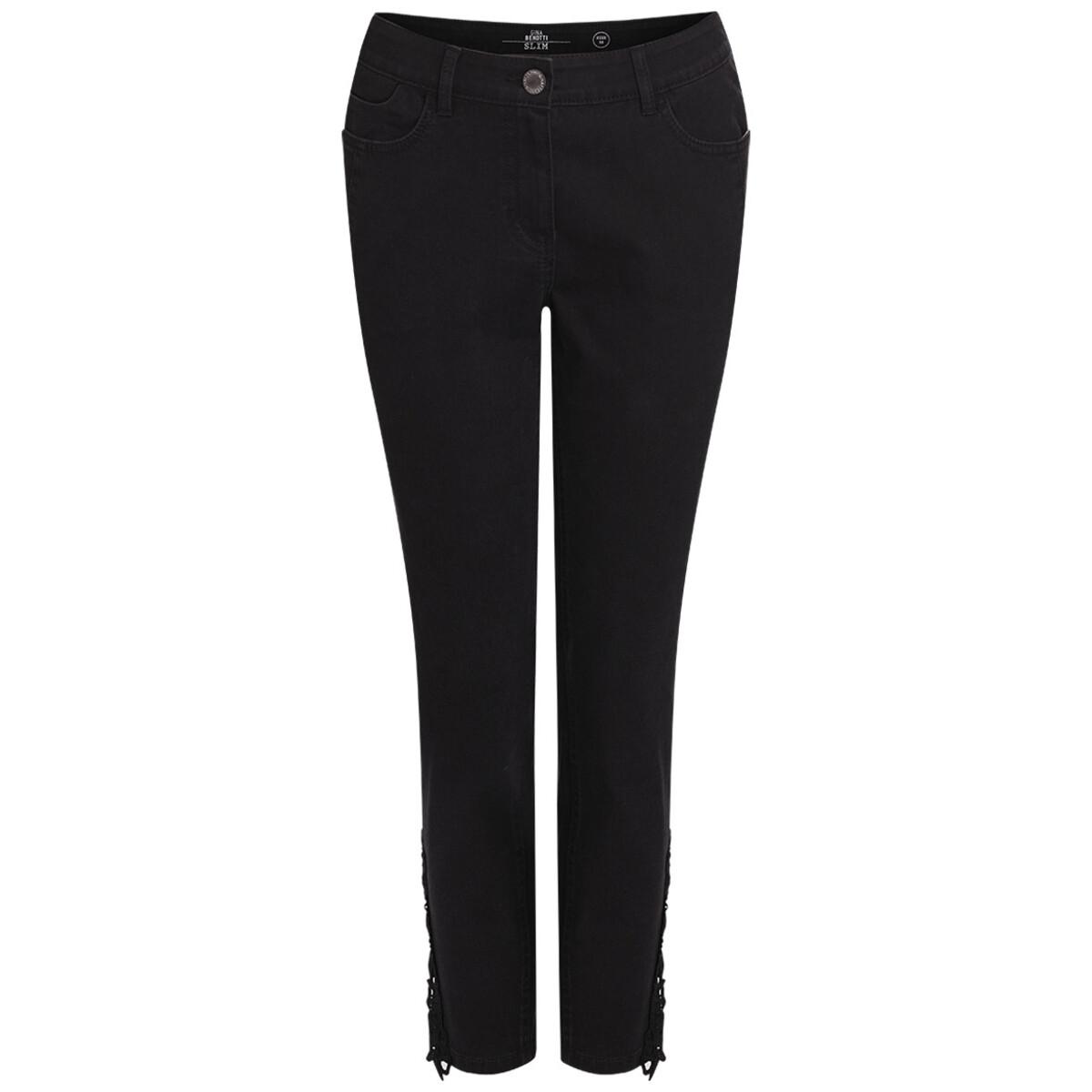 Bild 1 von 7/8 Damen Jeans mit Makremee-Spitze