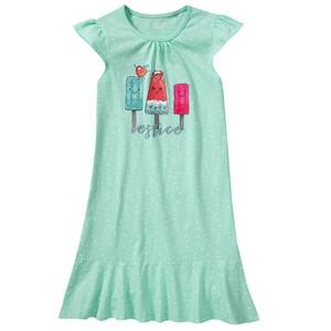 Mädchen Nachthemd mit lustigem Eis-Print