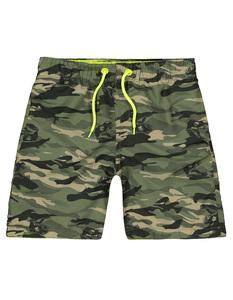 Jungen Shorts mit Camouflage-Muster