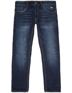 Herren Tapered Fit Stone Washed Jeans
