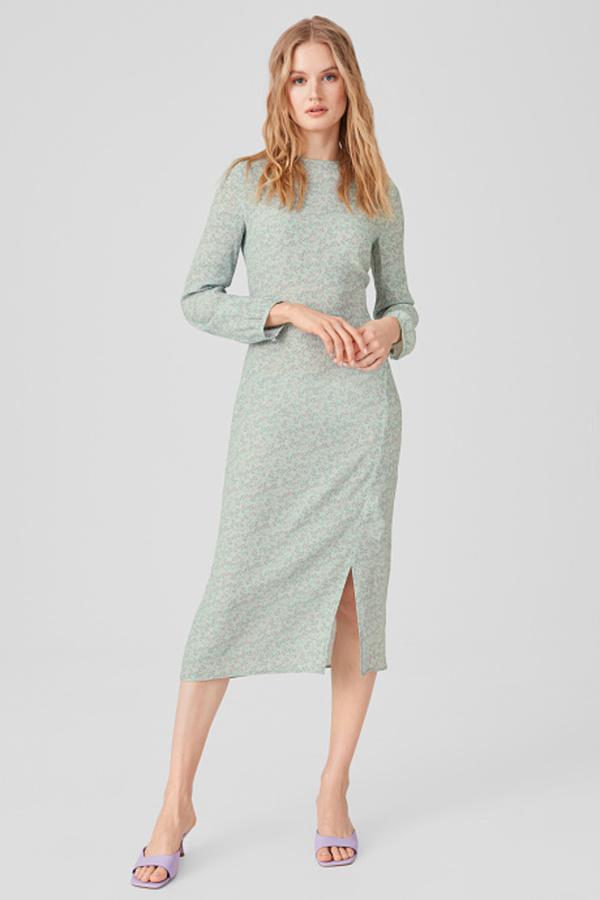 C A Figurbetontes Kleid Midi Grun Grosse 40 Von C A Ansehen
