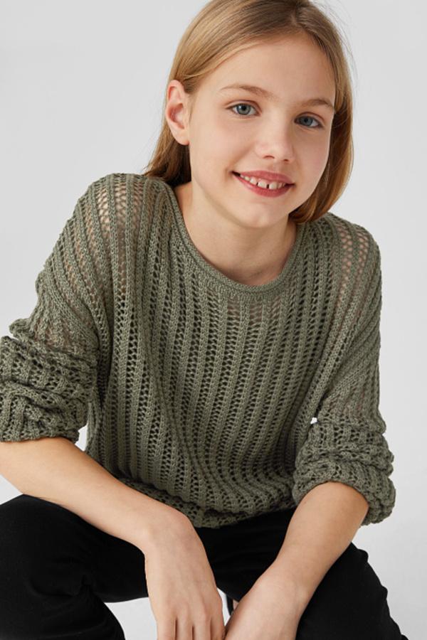 C&A Pullover, Grün, Größe: 146/152