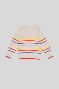 C&A Pullover-gestreift, Weiß, Größe: 140