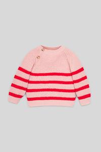C&A Pullover-gestreift, Rosa, Größe: 140