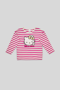 Hello Kitty - Langarmshirt - Bio-Baumwolle - gestreift