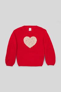 C&A Pullover-Glanz-Effekt, Rot, Größe: 140