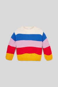 C&A Pullover-gestreift, Bunt, Größe: 140