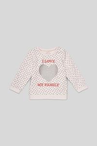 Baby-Sweatshirt - Bio-Baumwolle - gepunktet - Glanz-Effekt