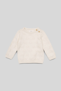 C&A Baby-Pullover-Bio-Baumwolle, Weiß, Größe: 98