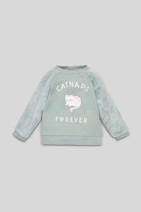 C&A Baby-Sweatshirt-Glanz-Effekt, Türkis, Größe: 98