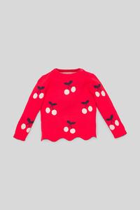 C&A Baby-Pullover-Bio-Baumwolle, Rot, Größe: 98