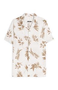 Hemd aus Leinen mit Blattmuster