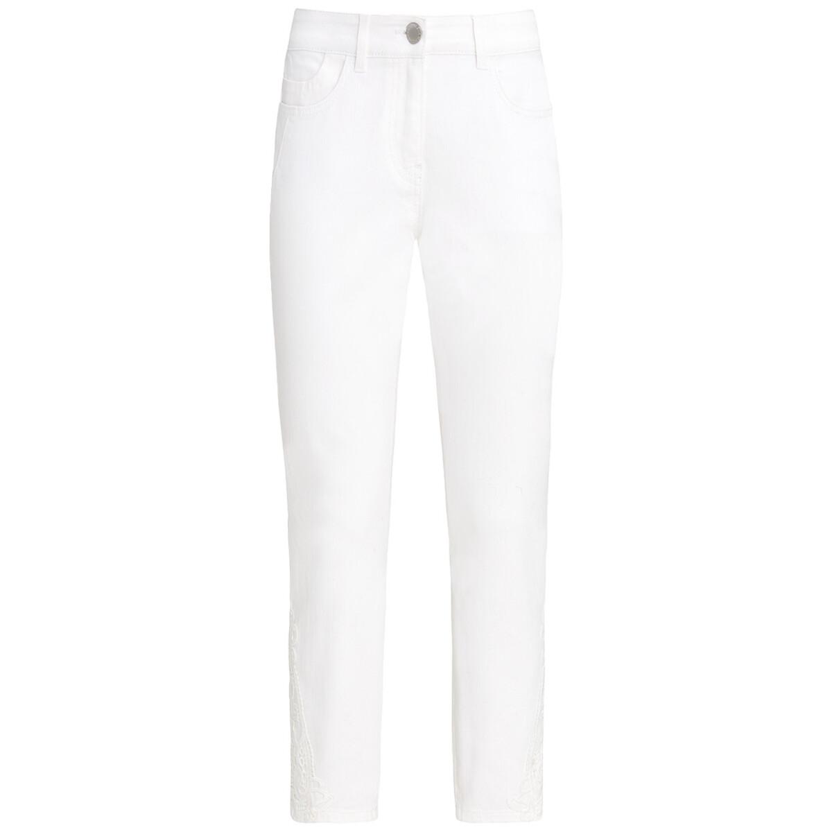 Bild 1 von 7/8 Damen Slim-Jeans mit Spitze
