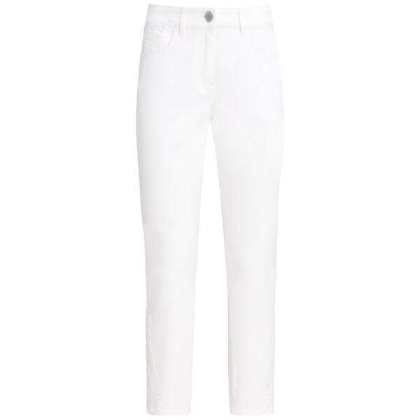 7/8 Damen Slim-Jeans mit Spitze