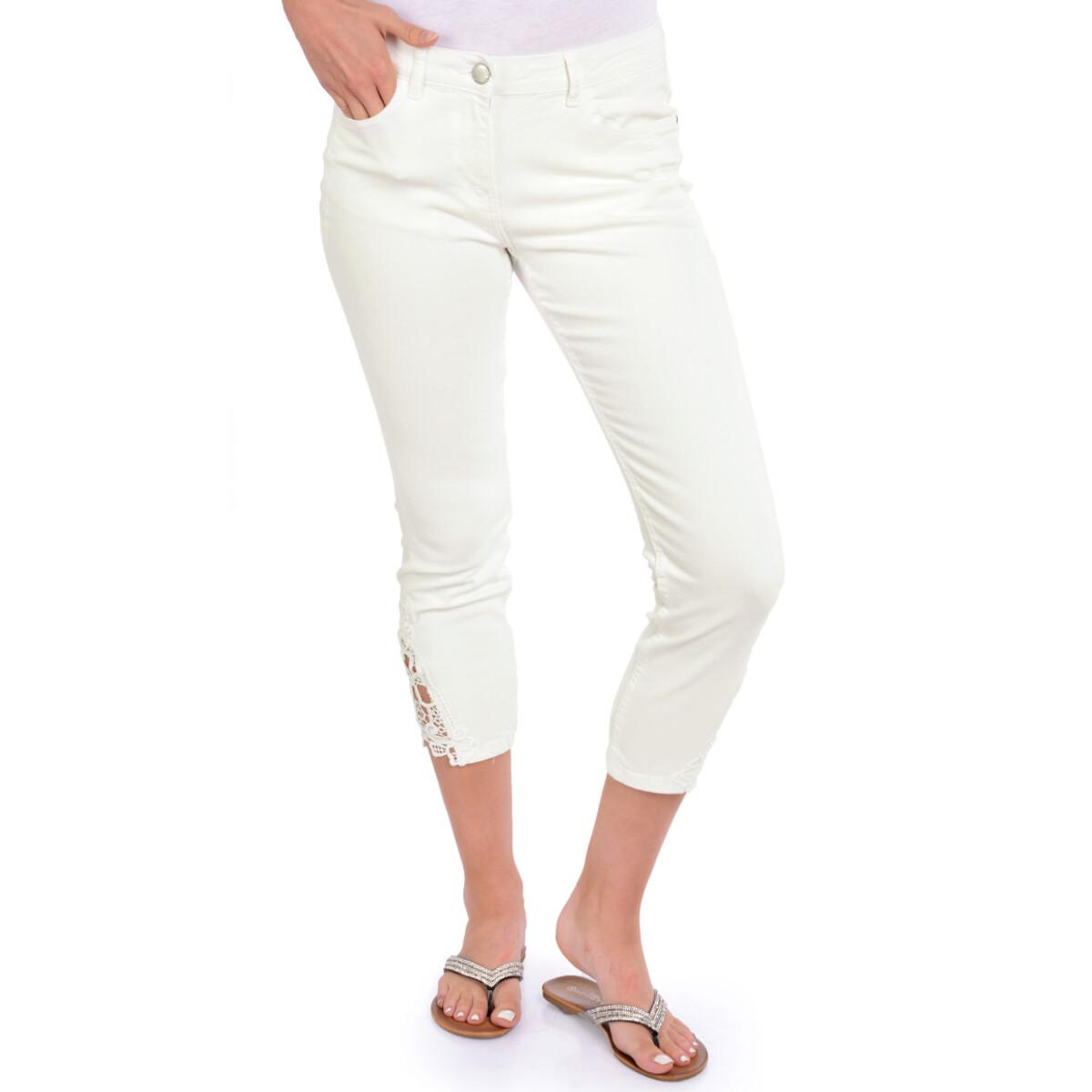 Bild 2 von 7/8 Damen Slim-Jeans mit Spitze