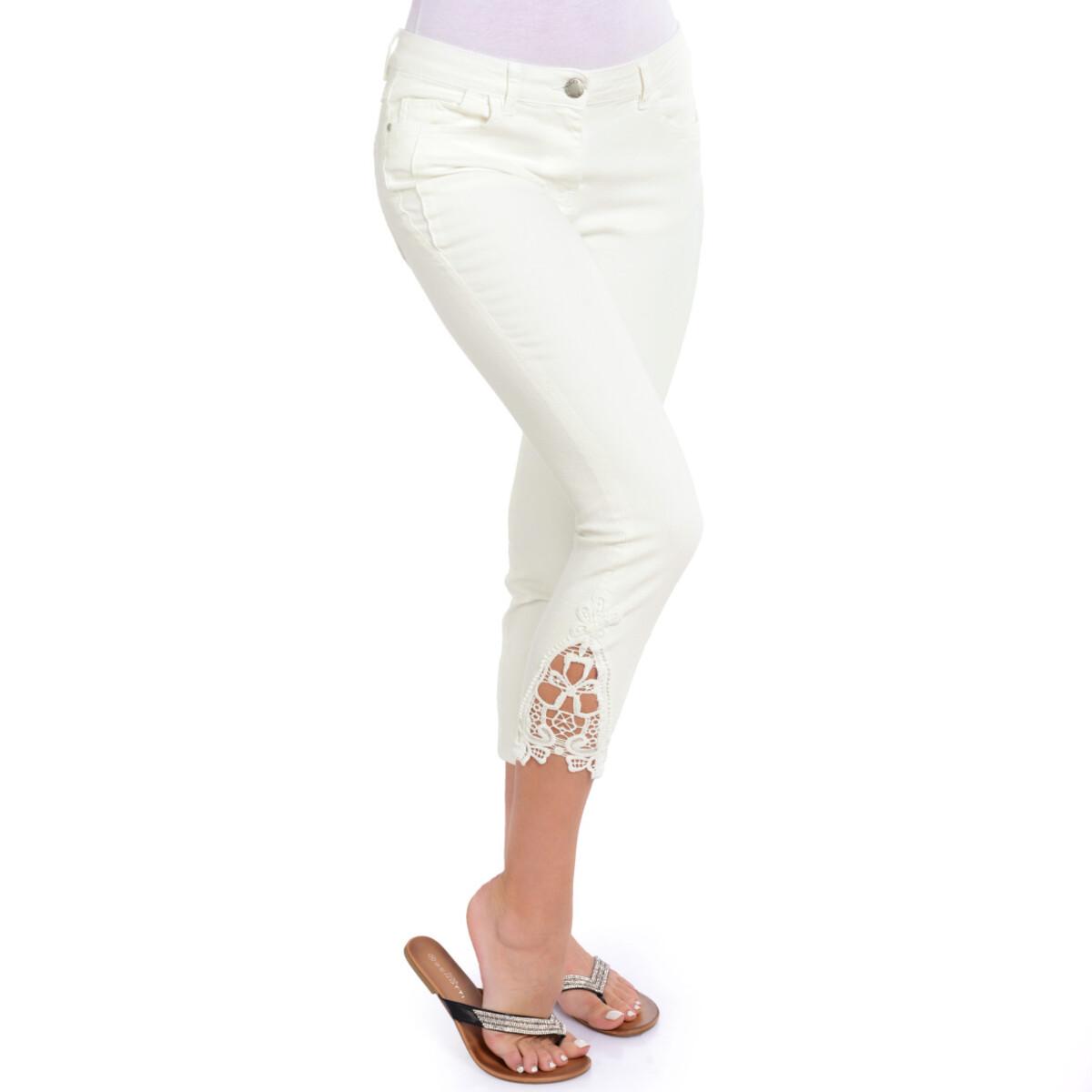 Bild 3 von 7/8 Damen Slim-Jeans mit Spitze