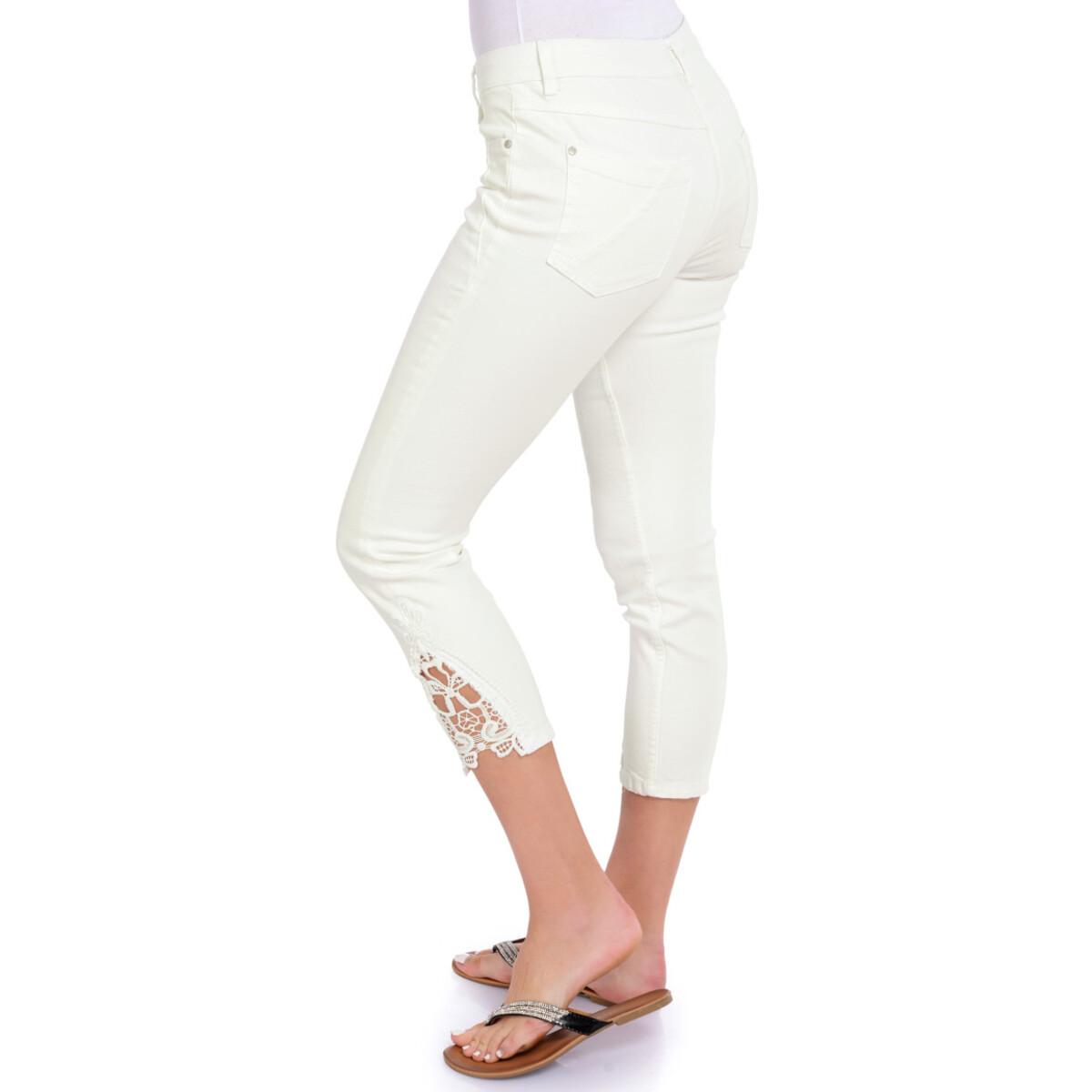 Bild 4 von 7/8 Damen Slim-Jeans mit Spitze