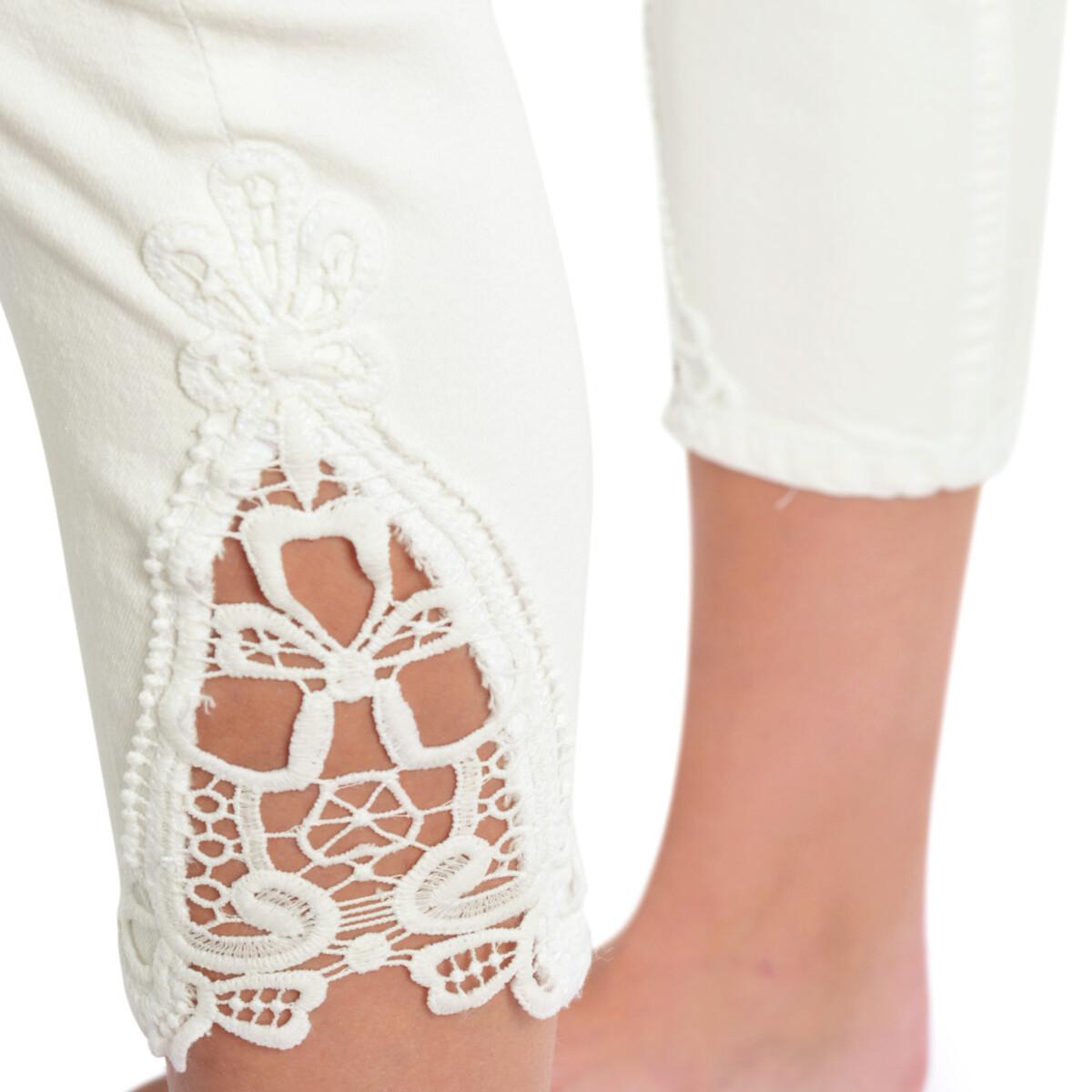 Bild 5 von 7/8 Damen Slim-Jeans mit Spitze