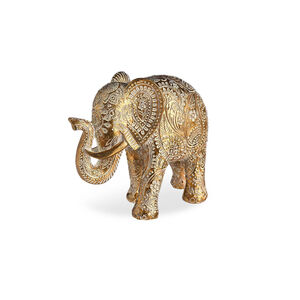 Dekofigur Elefant, L:12cm x H:11cm, gold