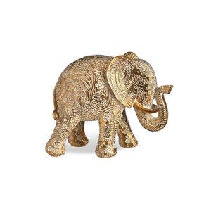 Dekofigur Elefant, L:18cm x H:21cm, gold