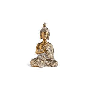 Dekofigur Buddha, H:14cm, gold