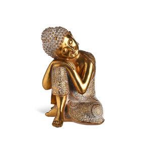 Dekofigur Buddha, H:24,5cm, gold