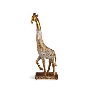 Dekofigur Giraffe, L:12,5cm x H:31cm, gold