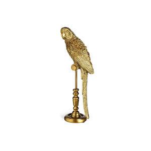 Dekofigur Papagei, H:24,5cm, gold