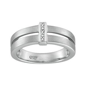 CHRIST Silver Diamonds Damenring 84991651