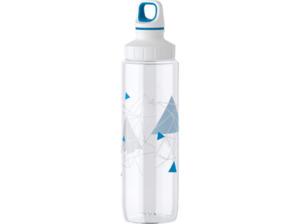 EMSA 518308 Trinkflasche in Transparent/Weiß/Blau