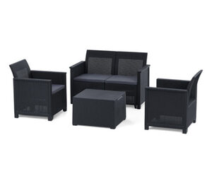 Gartenmöbel-Set »Geflechtoptik«,  4-teilig