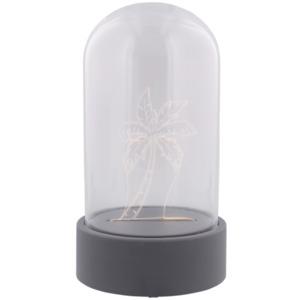 Glasglocke mit LED-Figur