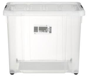 Tarrington House Clear Box, mit Deckel, 80 l, transparent