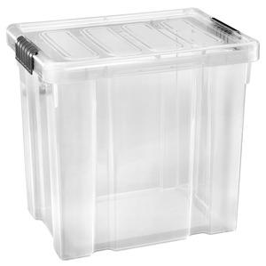 Tarrington House Clear Box, mit Deckel, 28 l, transparent