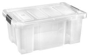 Tarrington House Clear Box, mit Deckel, 45 l, transparent