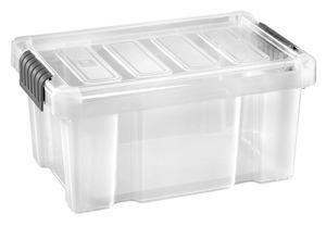 Tarrington House Clear Box, mit Deckel, 14 l, transparent