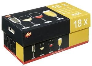 Snap Rotweinglas  - 18 Stück