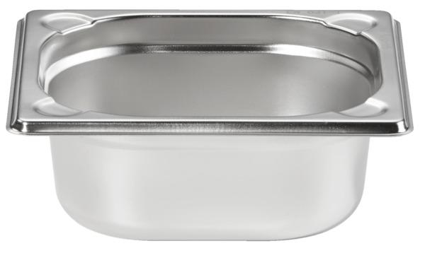 METRO Professional Behälter, GN, Edelstahl 1/6, 65 mm, 14/1