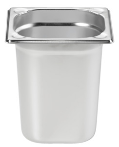 METRO Professional Behälter, GN, Edelstahl 1/6, 200 mm, 14/1